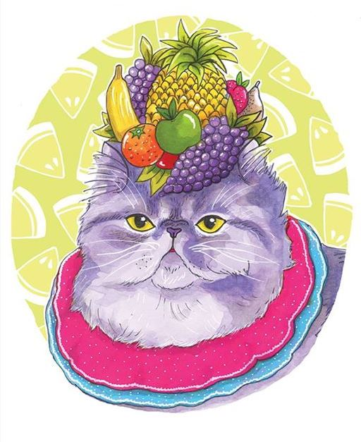 Tutty fruity cat